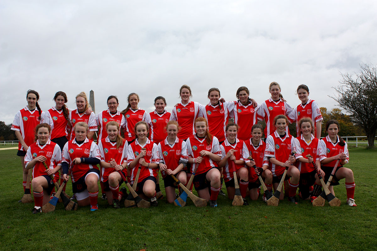 The Cuala U14 Camogie team before the match