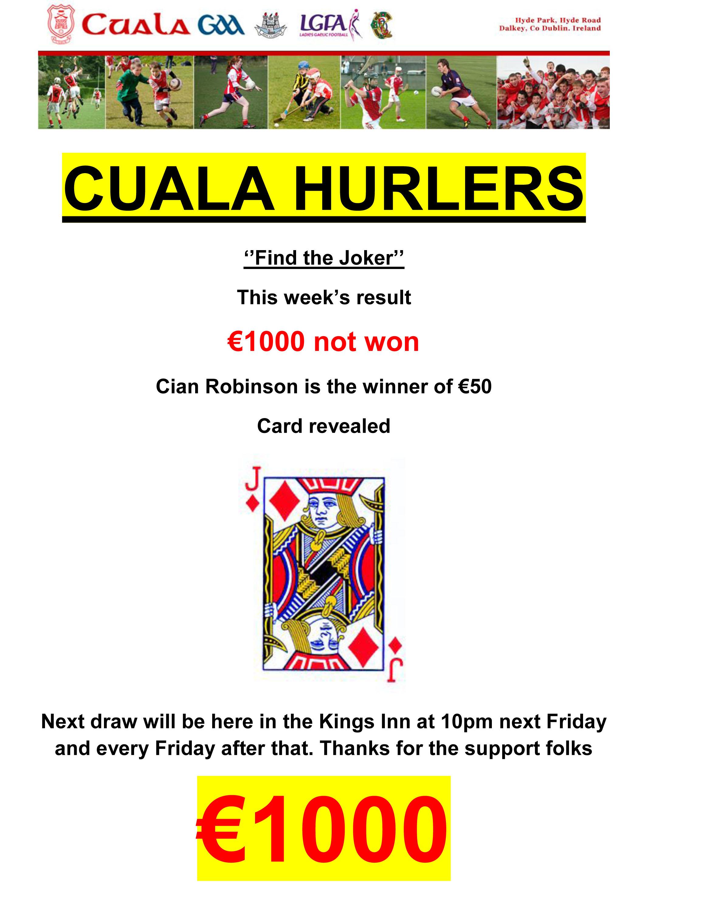 CUALA HURLERS RESULT JOKER