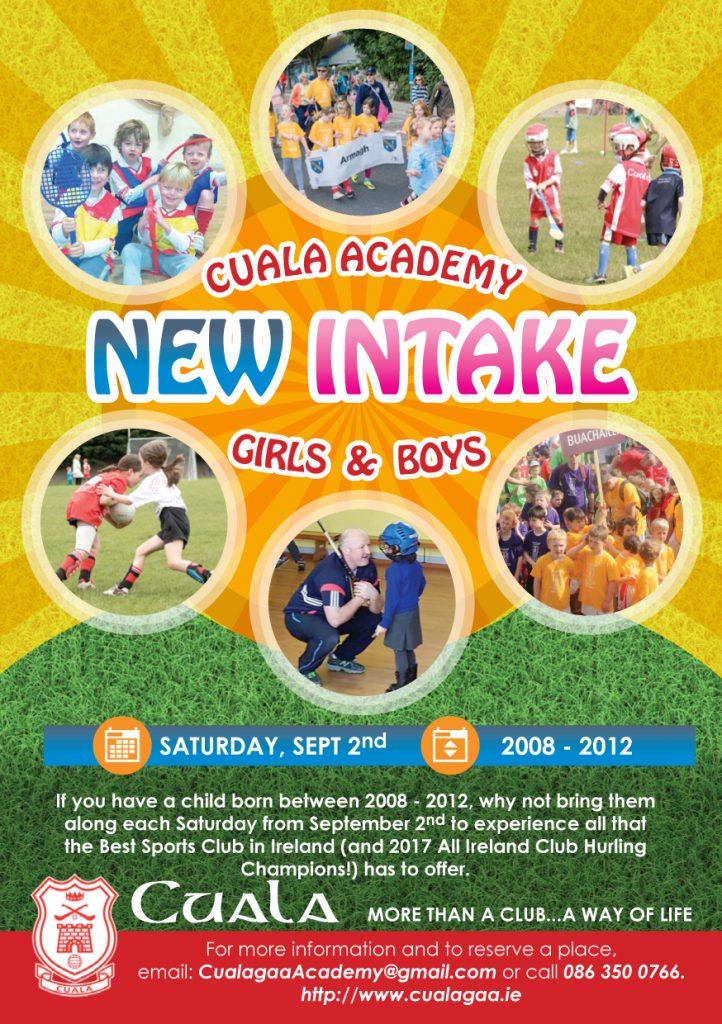 Cuala Academy New Intake Flyer