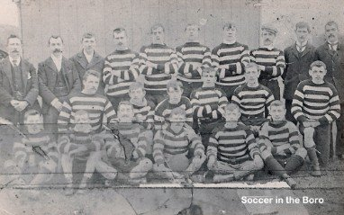 "Glasthule Mitchels (Image courtesy of Joe Dodd, Author ""Soccer in the Borough)"