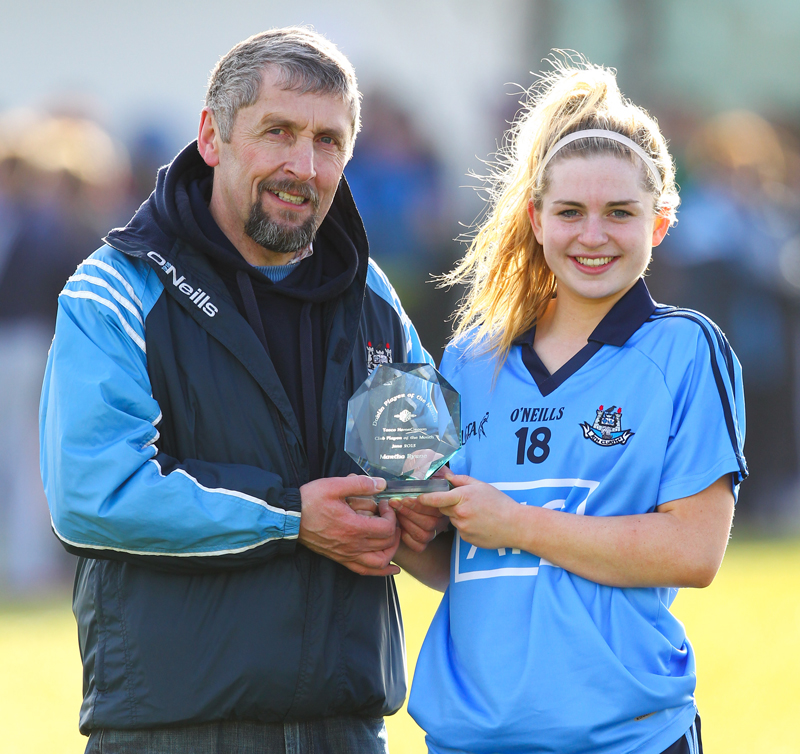 Martha Byrne Player Of The Month Award Cuala Clg