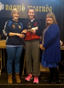 Sinead Wylde receiving her  2013 U13 Division 3 Player of the Year award
